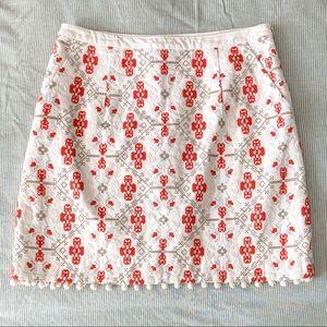 Maeve Embroidered Pom Pom skirt